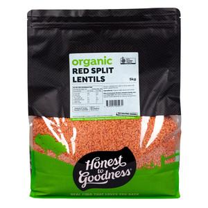 Honest to Goodness Organic Red Split Lentils
