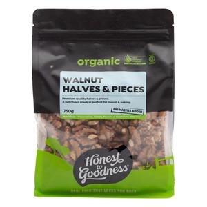 Organic Walnut Halves & Pieces 750g