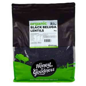 Honest to Goodness Organic Black Beluga Lentils