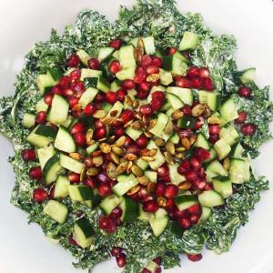 Kale Salad with Tahini Grapefruit Dressing & Tamari Pepitas