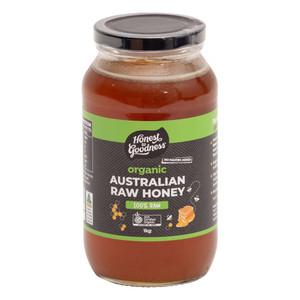 Organic Australian Raw Honey 1KG