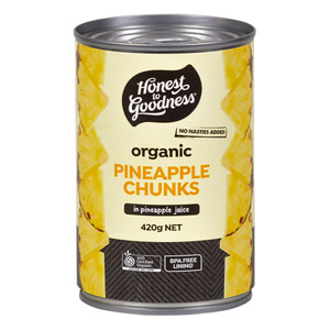 Honest to Goodness Organic Pineapple Chunks in Juice