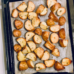 Crispy Ghee Roasted Potatoes