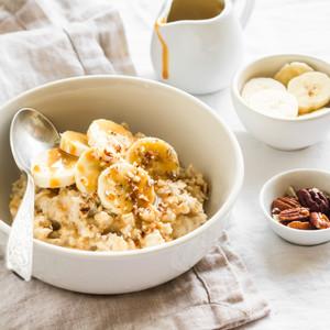 Creamy Peanut Butter & Caramel Porridge