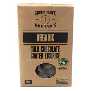 Organic Milk Chocolate Coated Licorice 180g