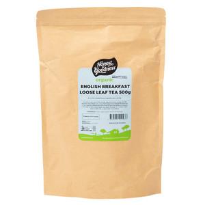 Organic English Breakfast Loose Leaf Tea 500g