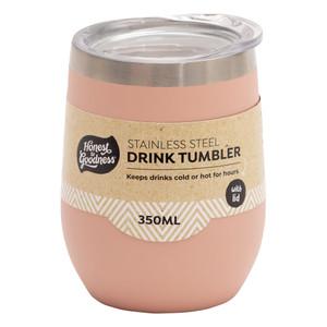 Stainless Steel Drink Tumbler 350ml - Pink