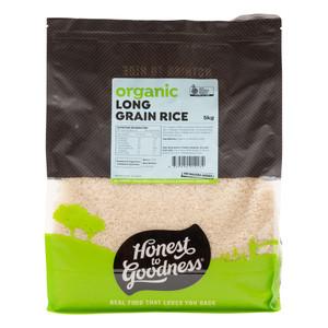Organic White Long Grain Rice 5KG