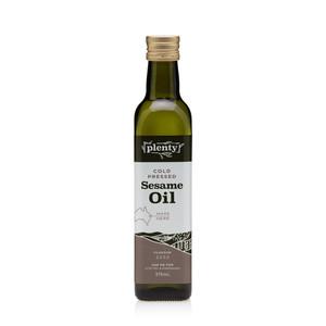 Sesame Oil - Cold Pressed 375ml, Plenty Foods