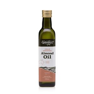 Almond Oil - Cold Pressed 375ml, Plenty Foods
