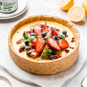 Vegan Vanilla Custard Tart