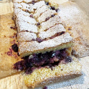 Lemon & Blueberry Polenta Tea Cake