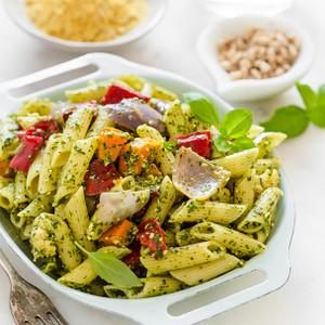 Pesto & Roasted Vegetable Pasta