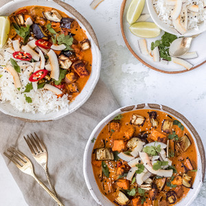 Roasted Eggplant & Sweet Potato Red Curry