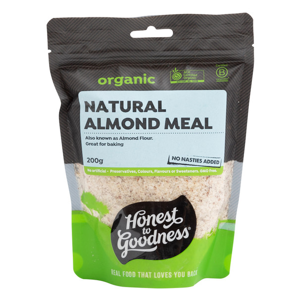 Organic Natural Almond Meal 200g
