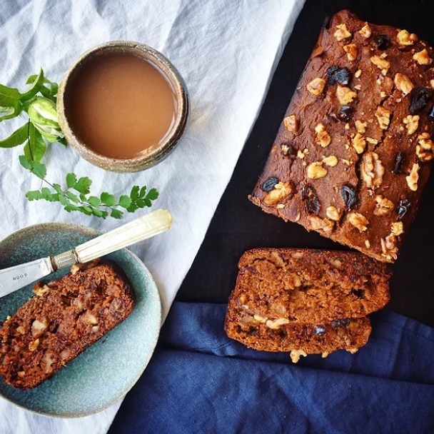 Carob Chai Date and Walnut Loaf