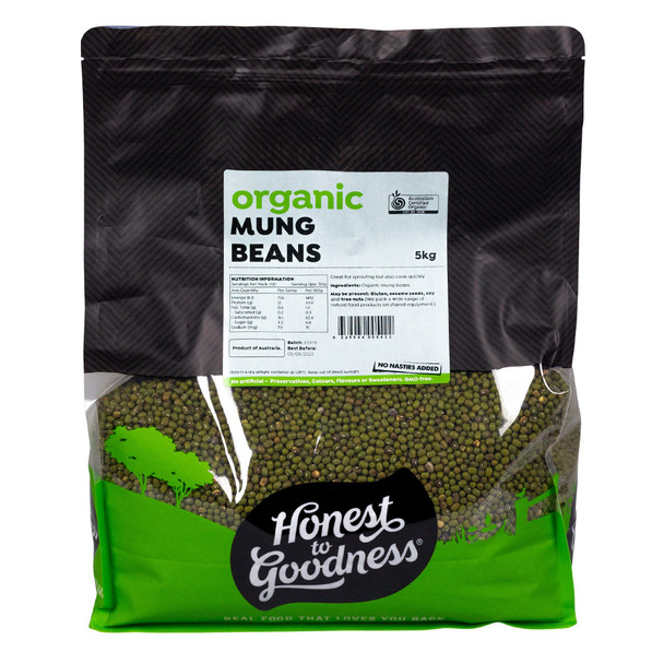 Honest to Goodness Organic Mung Beans