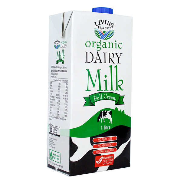 Organic Dairy Milk Full Cream 1L