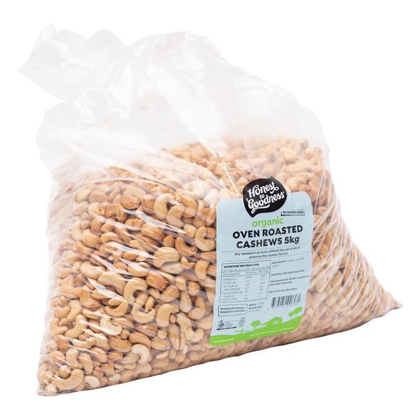 Organic Oven Roasted Cashews 5KG