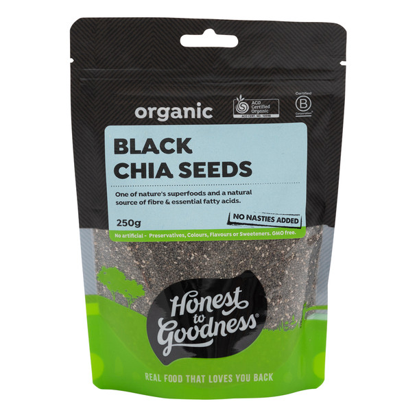 Organic Black Chia Seeds 250g