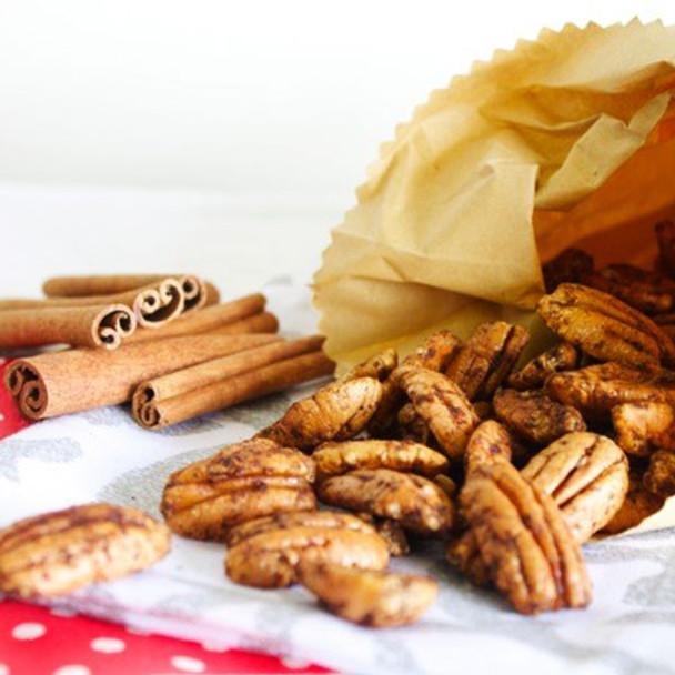 Maple and Cinnamon Glazed Pecans