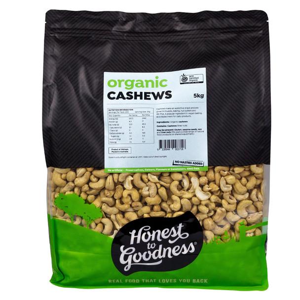 Honest to Goodness Organic Raw Cashews