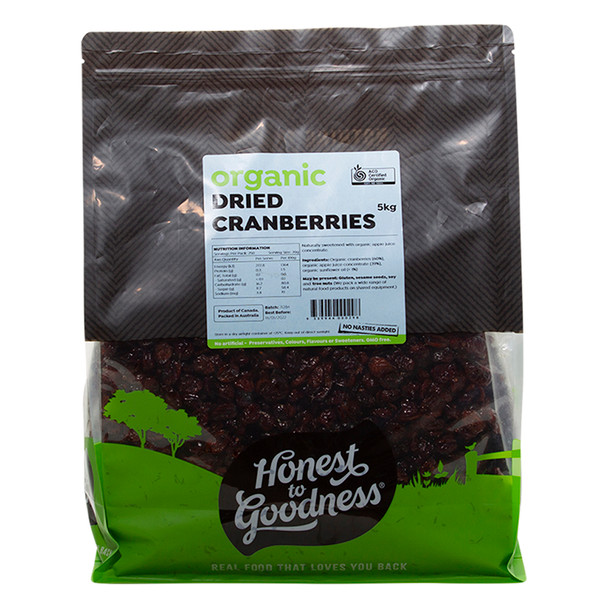 Honest to Goodness Organic Dried Cranberries