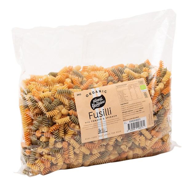 Organic Fusilli with Tomato & Spinach 2KG