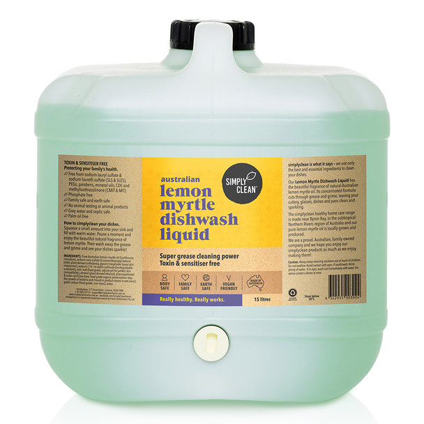 Lemon Myrtle Dishwash Liquid 15L
