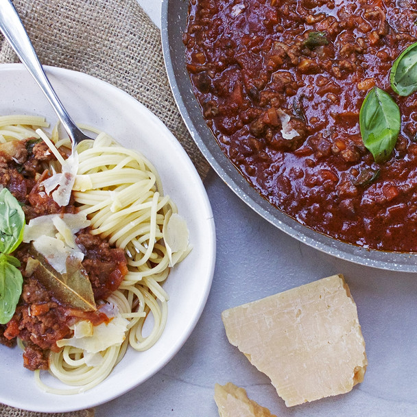 Spaghetti Bolognese with Hidden Vegetables & Red Lentils