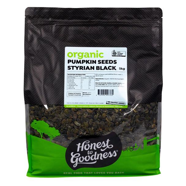 Honest to Goodness Organic Styrian Black Pumpkin Seeds