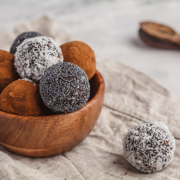 Chocolate Adzuki Bean Bliss Balls