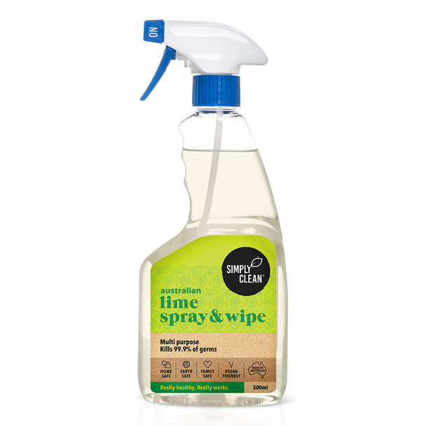 Simplyclean Australian Lime Spray & Wipe 500ml