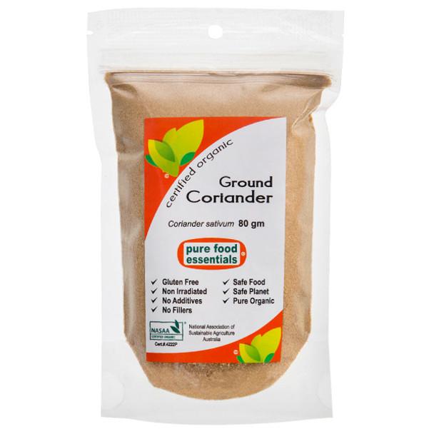 Organic Ground Coriander 80g