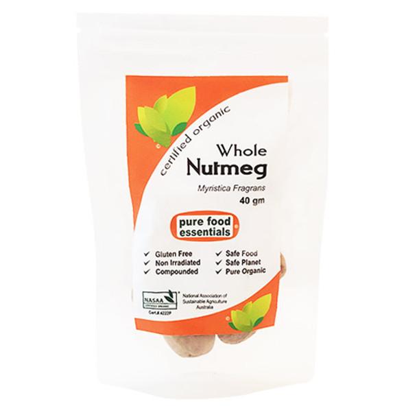 Organic Nutmeg Whole 40g
