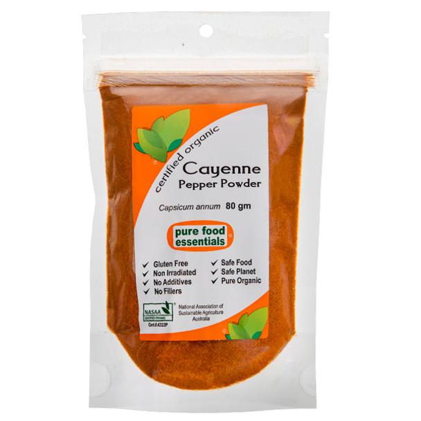 Organic Cayenne Pepper 80g