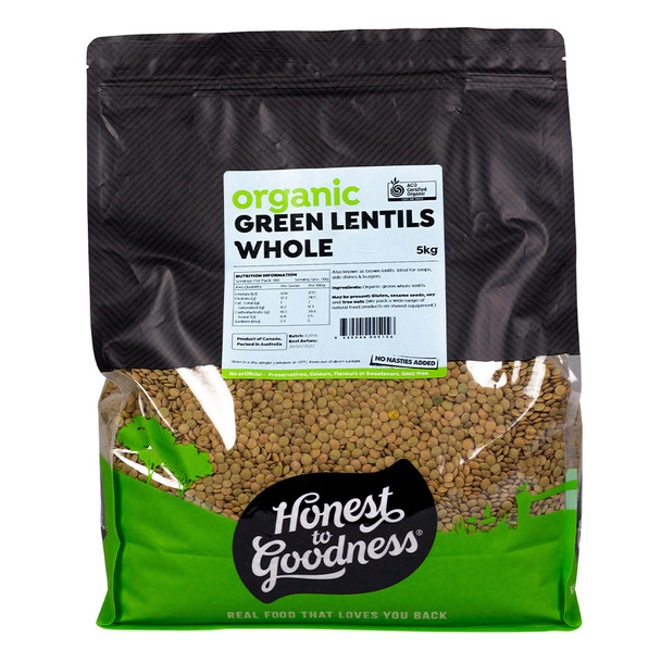 Honest to Goodness Organic Green Lentils