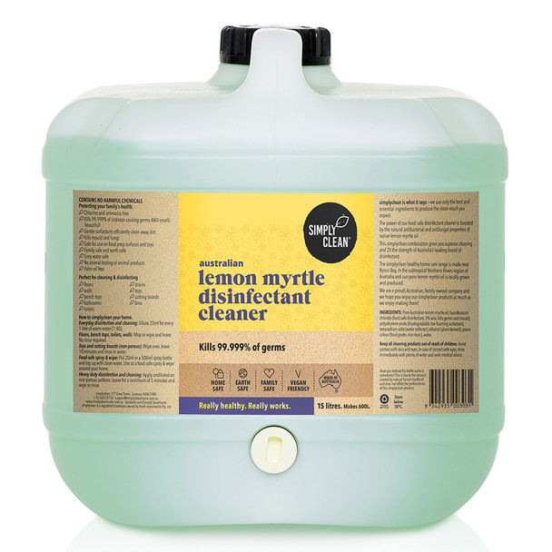Lemon Myrtle Disinfectant Cleaner 15L