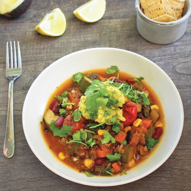 Fast & Fabulous Bean Chilli with Lime & Avocado