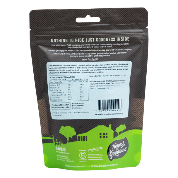 Organic Dried Incaberries 175g