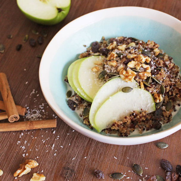Spiced Apple Tricolour Quinoa Porridge