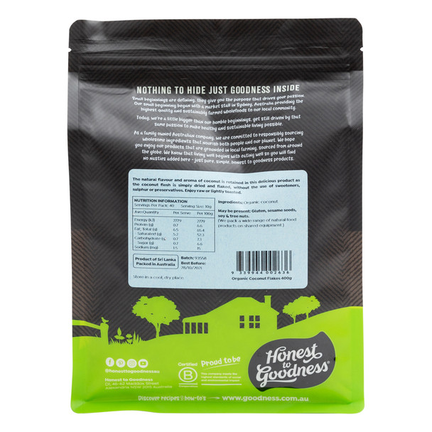Organic Coconut Flakes 400g