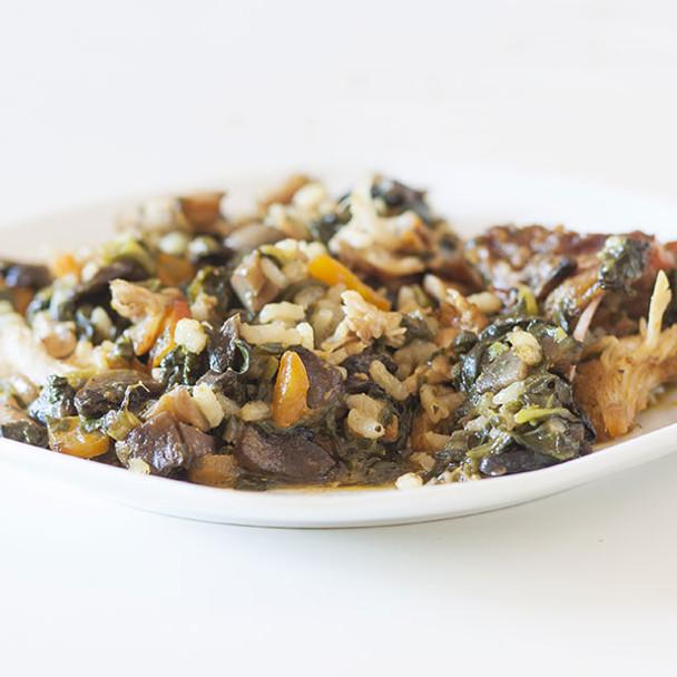 Chard, Mushroom & Rice Bake