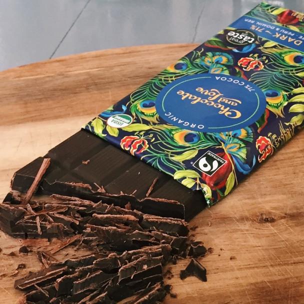 Organic Chocolate - Rich Dark 71% Dark Chocolate 80g