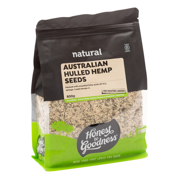 Australian Hulled Hemp Seeds 800g