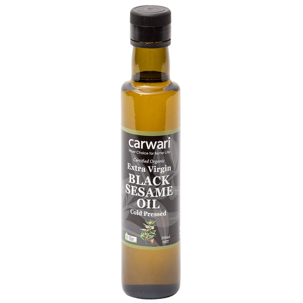 Organic Black Sesame Oil Extra Virgin 250ml