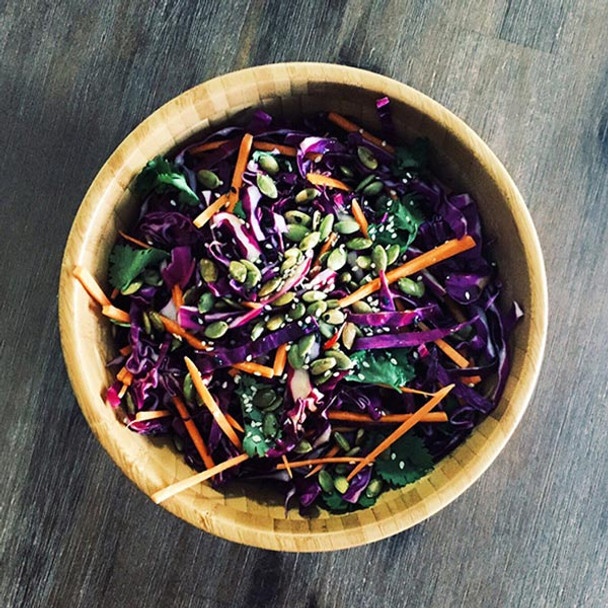 Sweet & Spicy Asian Sesame Slaw