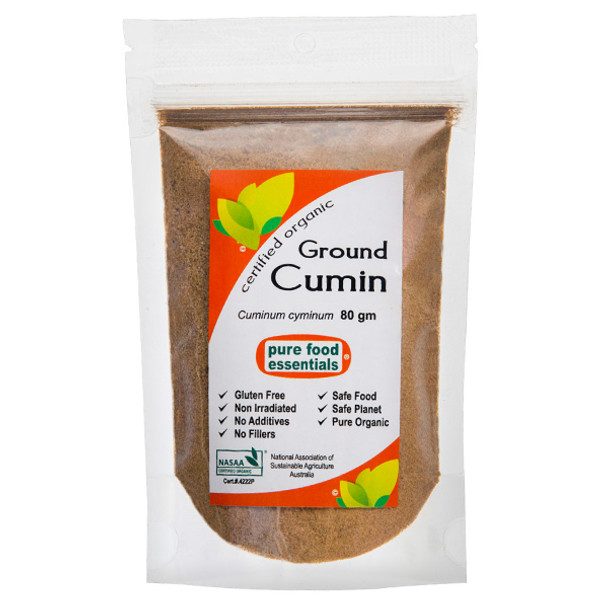 Organic Cumin Powder 80g