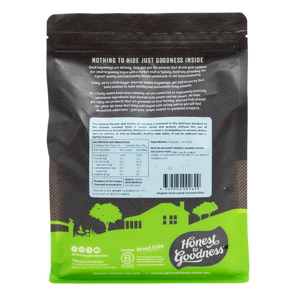 Organic Desiccated Coconut 650g