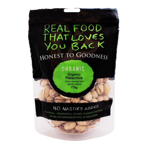 Organic Pistachio Oven Roasted and Lightly Salted 175g